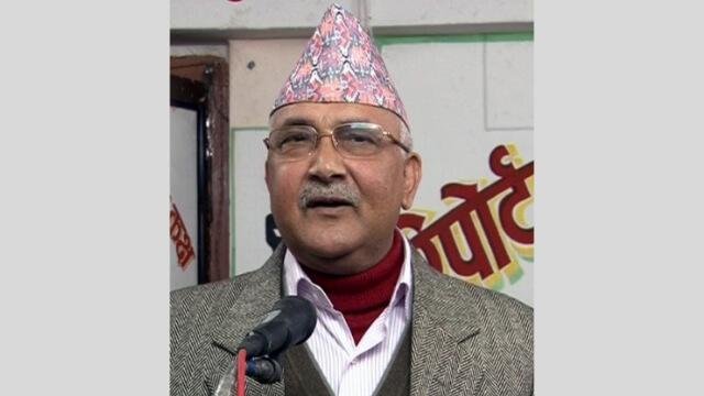 Il primo ministro del Nepal, Sharma Oli