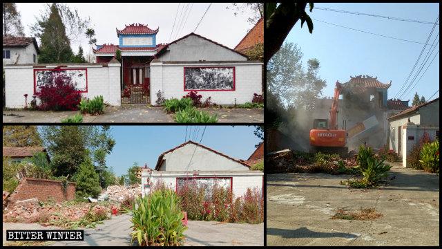 Il tempio Tianfu del borgo di Xintan è stato demolito il 6 settembre