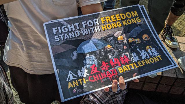 «Lotta per la libertà, sostieni Hong Kong»