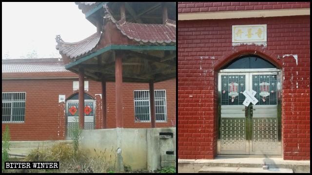 Il tempio Kaishan è stato sigillato il giorno stesso in cui l'anziano che ci viveva è stato trasferito in una casa di riposo
