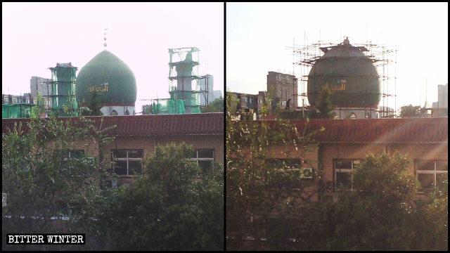 Le cupole e i simboli della mezzaluna e della stella sono stati eliminati dalla moschea della città di Anyang