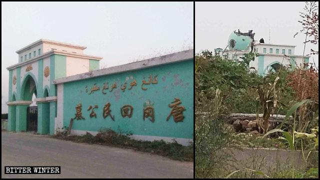 Le cupole e i simboli della mezzaluna e della stella sono stati rimossi dal cimitero hui di Weihui