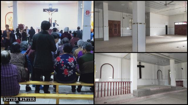 La chiesa cattolica prima e dopo essere stata svuotata
