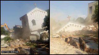 Demoliti due edifici della Chiesa delle Tre Autonomie in un villaggio di Fuzhou
