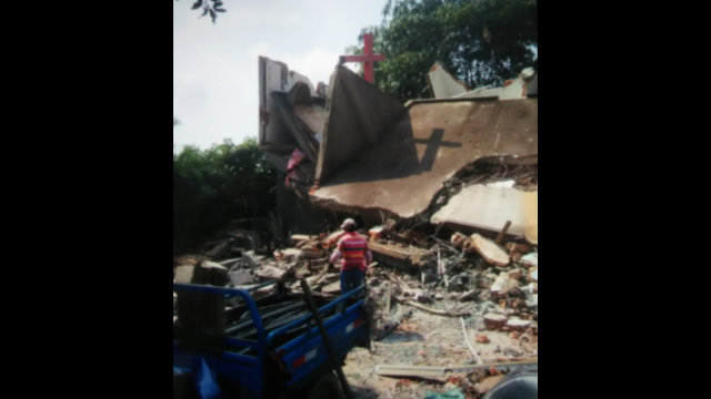 È stata demolita anche una sala per riunioni della Chiesa cristiana di Chengmen in Hudi Lane