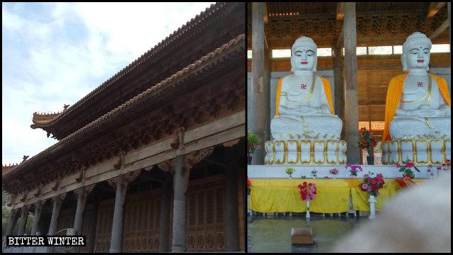 L'aspetto originario della Sala della grande forza del tempio Da'a Mituo