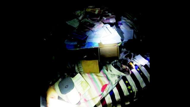 Oggetti confiscati il 1° novembre dalla polizia in un luogo di culto della CDO