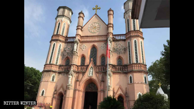 L'esterno della cattedrale di san Giuseppe a Fuzhou