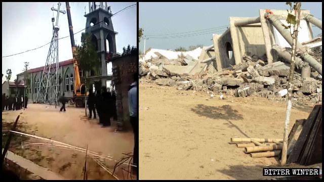 Una chiesa cattolica della contea di Guantao è stata distrutta il 31 ottobre