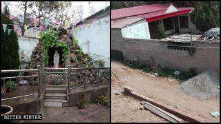 La statua della Vergine Maria che si trovava nel cortile di una chiesa cattolica della contea di Linzhang è stata distrutta per ordine dei funzionari del luogo