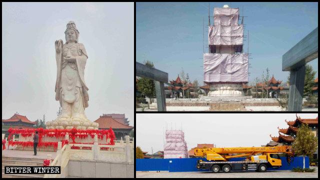 In ottobre l'amministrazione locale ha ordinato la demolizione della statua della Guanyin