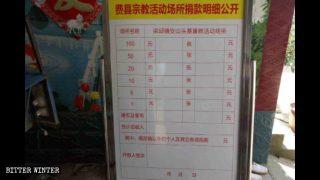 Il PCC usa le offerte dei fedeli per indottrinarli