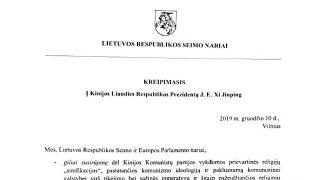 I parlamentari lituani scrivono a Xi Jinping: basta con la persecuzione religiosa!