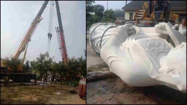 La statua è stata demolita in settembre