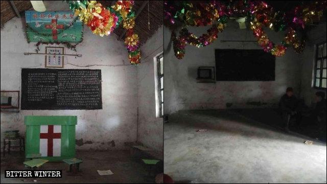Una sala per riunioni nel borgo di Shuiguo nel distretto Shizhong della città di Zaozhuang è stata soppressa