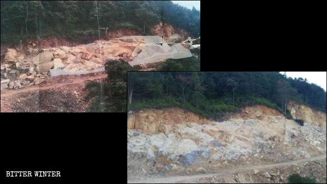Nella contea di Dehua il Buddha disteso, lungo 70 metri, è stato demolito