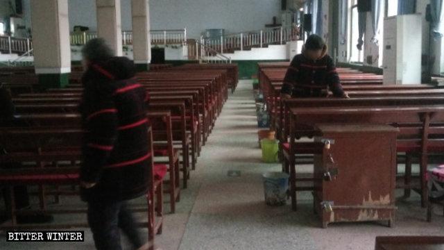 La Grace Church vuota il giorno di Natale