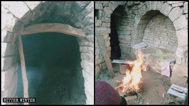 I fedeli sono ora costretti a incontrarsi in una gelida casa scavata nella roccia