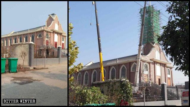 La chiesa cattolica della città di Linyi nello Shandong