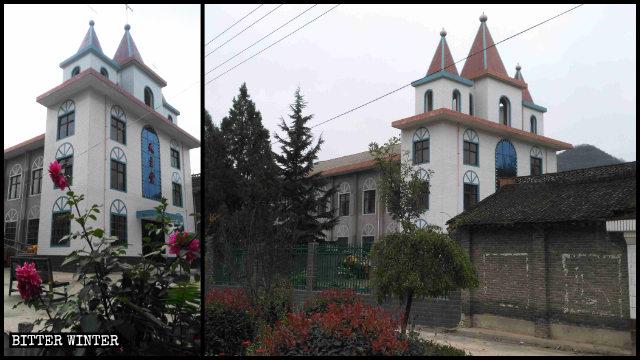 La chiesa del villaggio di Guchuan