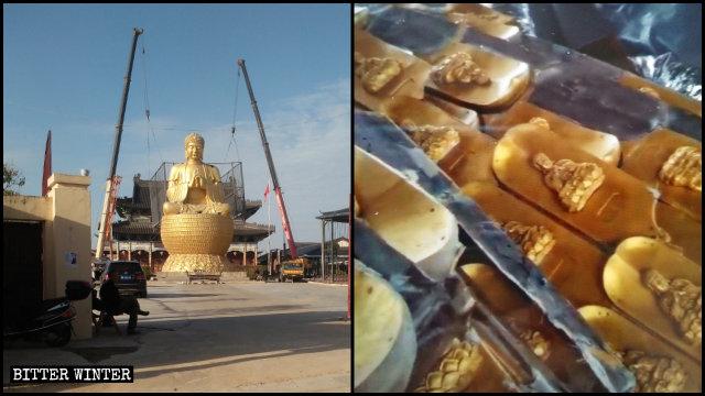 La statua del Buddha del tempio Dafo
