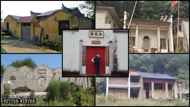 Templi sigillati in tutta la provincia dell'Hubei