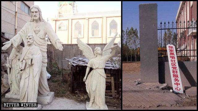 Tutte le statue sono state rimosse