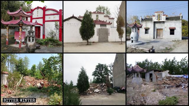 Nell'Hubei l'anno scorso sono stati demoliti numerosi templi dedicati alla religione popolare