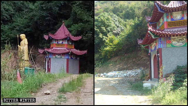 oro del Bodhisattva Earth Store del tempio Wuping