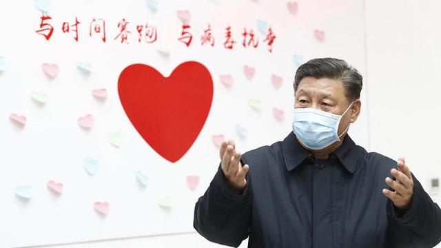 Il presidente Xi Jinping a Pechino in febbraio
