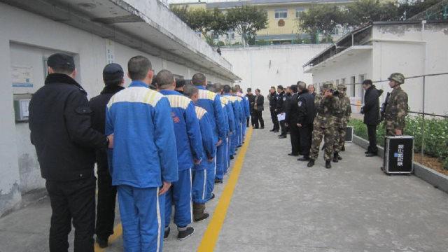 prigionieri in una casa di detenzione cinese