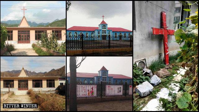 Le croci sono rimosse dalle chiese in tutto il Liaoning
