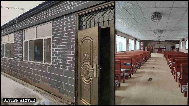 La chiesa cattolica della contea