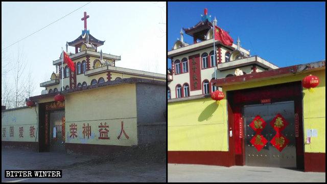 Croci rimosse in molte chiese protestanti controllate dallo Stato