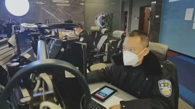 Polizia al lavoro