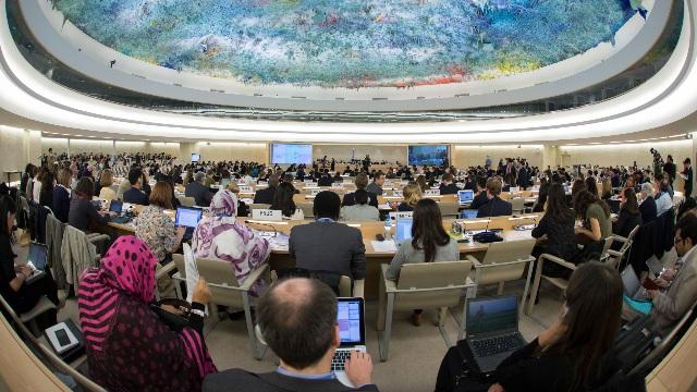 Una riunione del Consiglio dei diritti umani