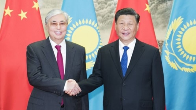 Xi Jinping e Kassym-Jomart Tokaev