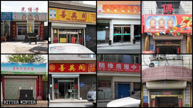 numerosi negozi di articoli buddhisti