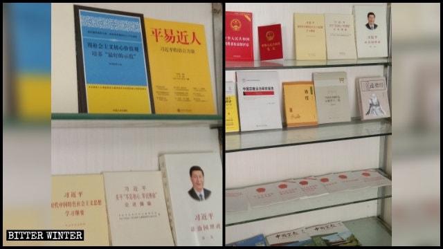 Libri che promuovono i discorsi di Xi Jinping