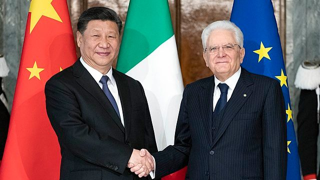 Xi Jinping in visita dal presidente della repubblica italiana