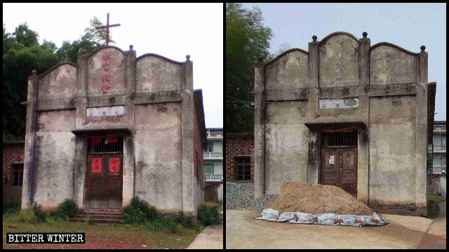 chiesa delle Tre Autonomie nel villaggio di Gaojia