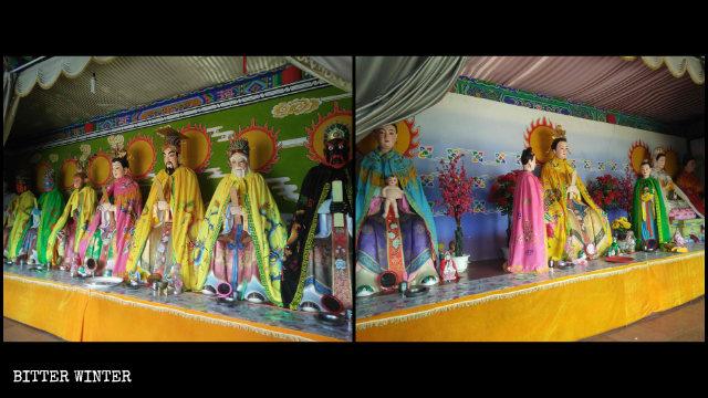 Le statue custodite nella Dragon King Hall