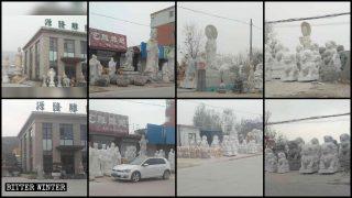 Perseguitato chi produce statue buddhiste