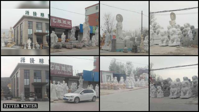 Le statue religiose al di fuori