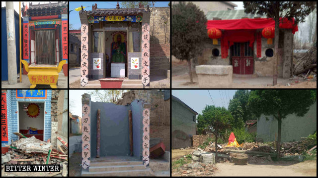 Numerosi templi dedicati sono stati demoliti