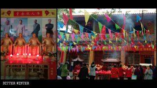 Nei templi Buddha viene sostituito da Mao