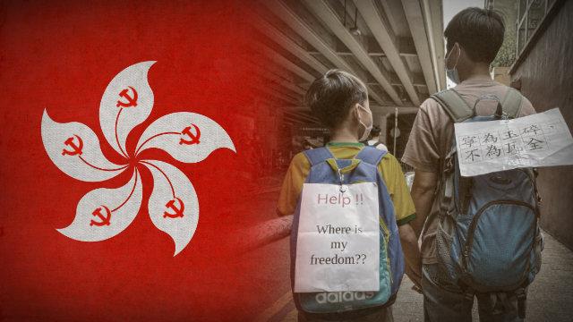 il PCC sottopone i giovani di Hong Kong