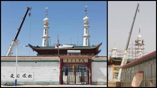la cupola e i minareti della moschea Yongle