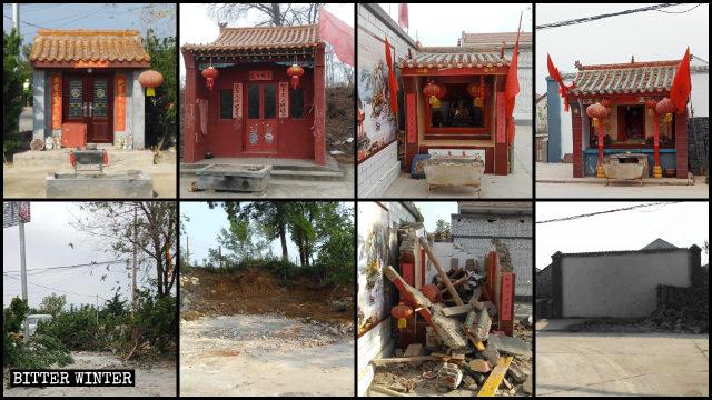sono stati rettificati numerosi templi dedicati