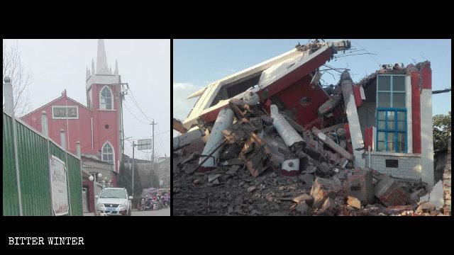 La chiesa di Bethel ridotta